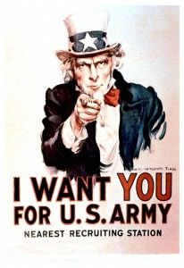 1940 Uncle Sam I want You