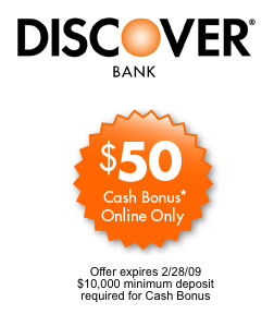 Free $50 Promotion from Discover Bank