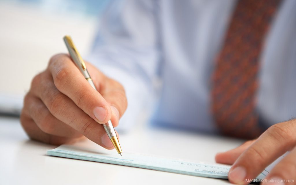 how to write a check simplii