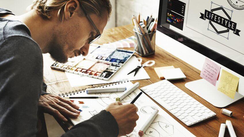 Artist Creative Designer Illustrator Graphic Skill Concept.