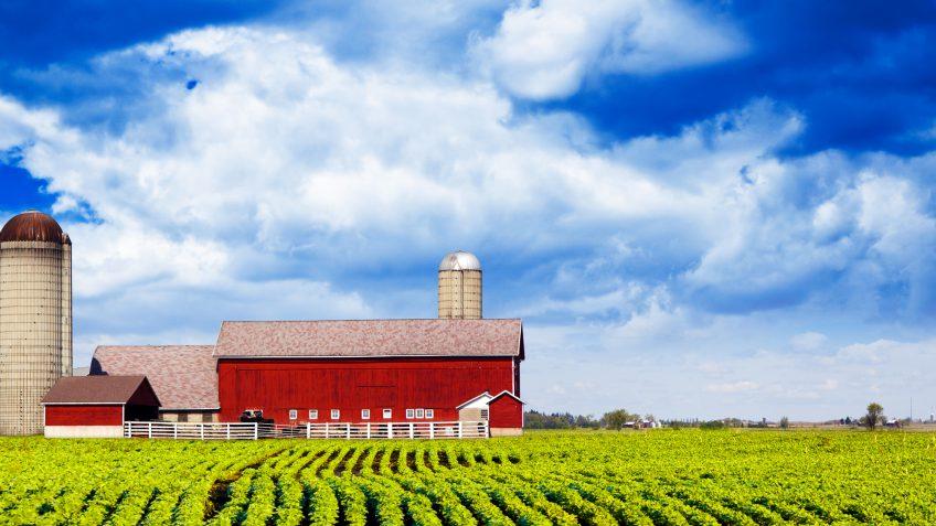 Iowa farmland barn