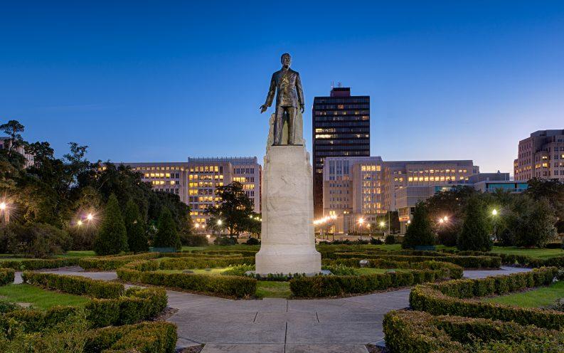 Louisiana garden statue
