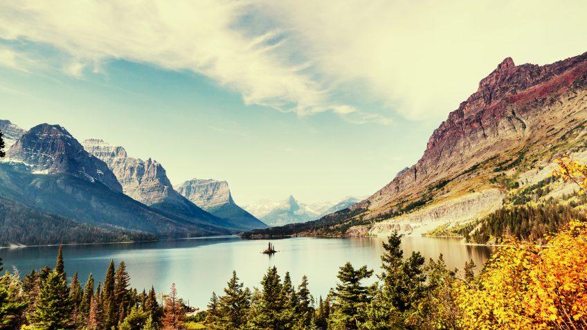 Montana water nature moutain