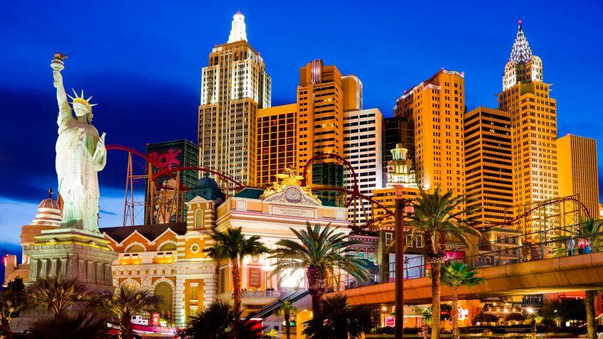 Nevada Las Vegas hotels night scene
