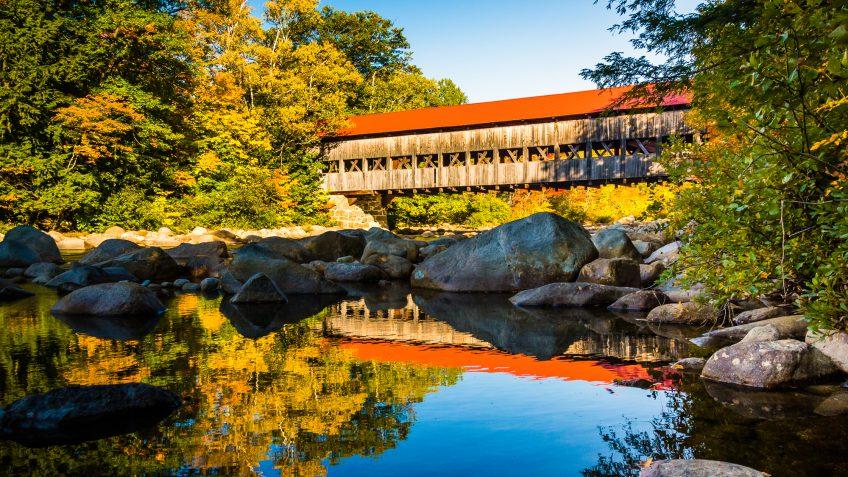 New Hampshire water bridge