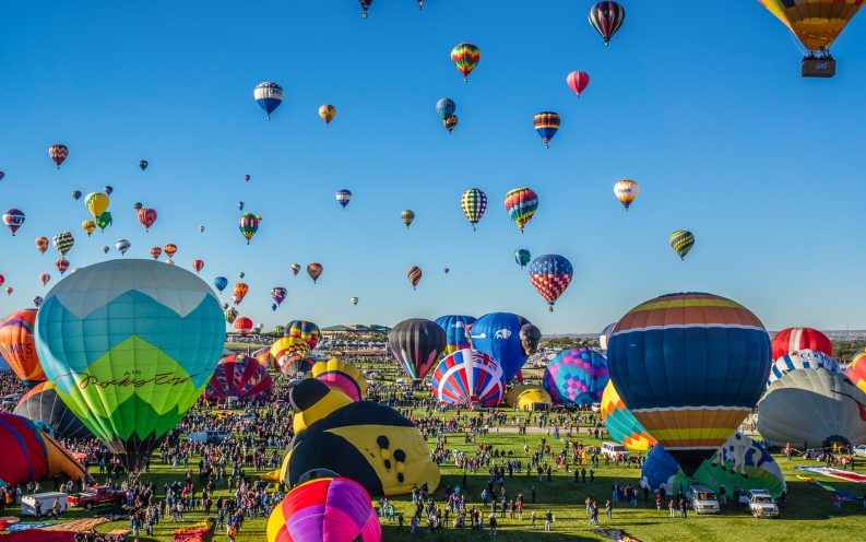 New Mexico hot air ballons festival