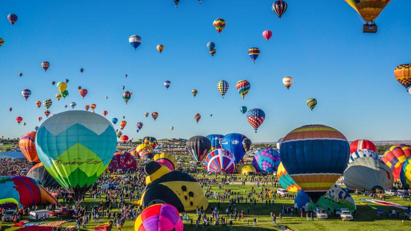 New Mexico hot air ballons festival