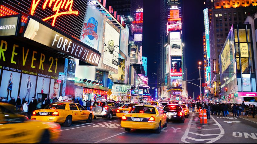 New York Times Square taxi streets
