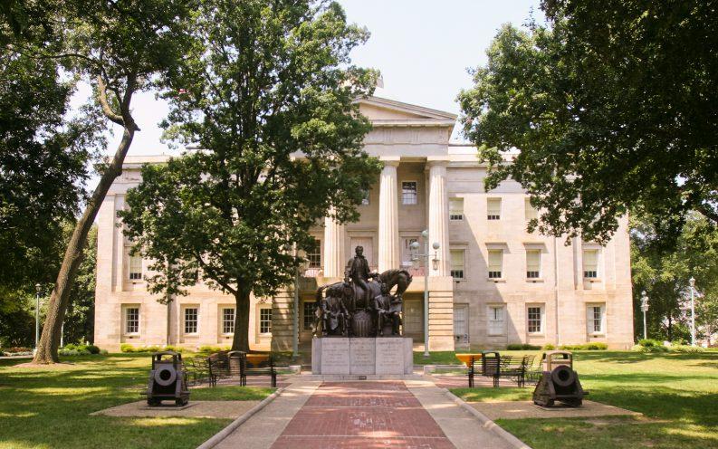 North Carolina capital building statues