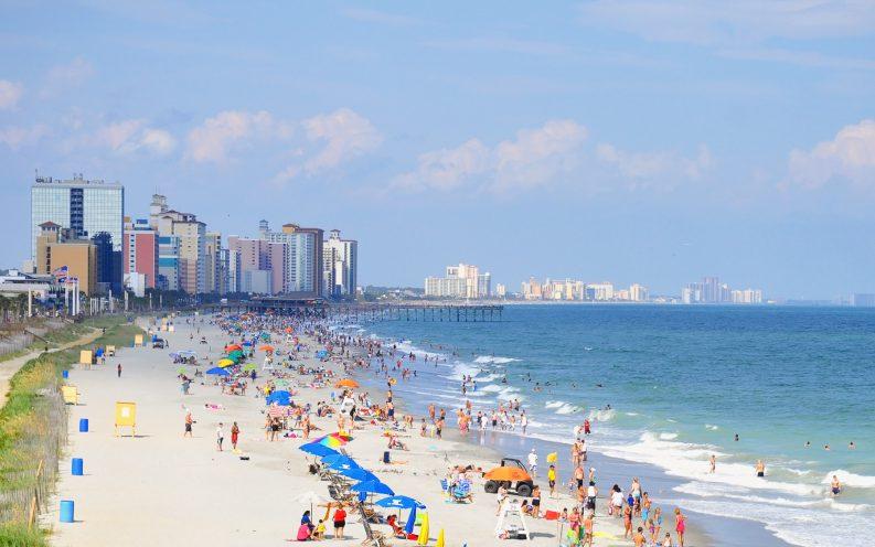 South Carolina waterfront beach