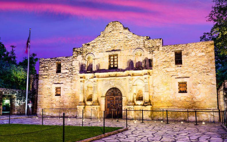Texas sunset night building
