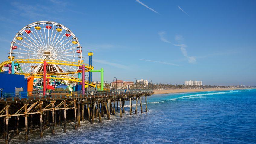 California Santa Monica pier