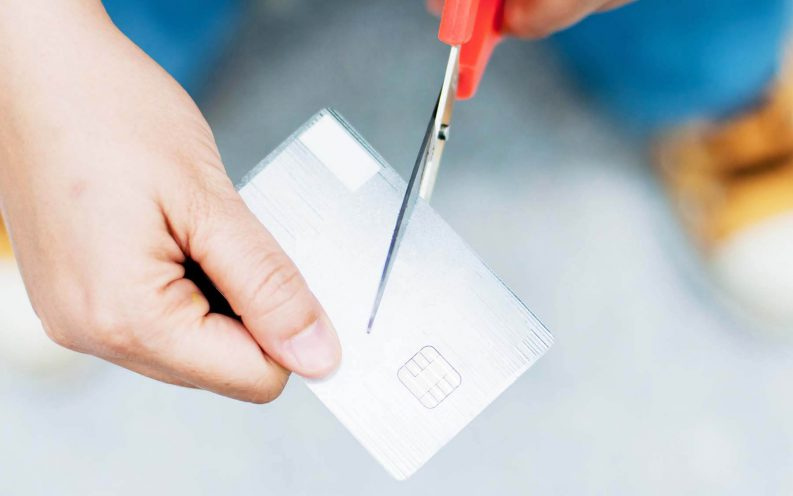 cut up credit card scissors