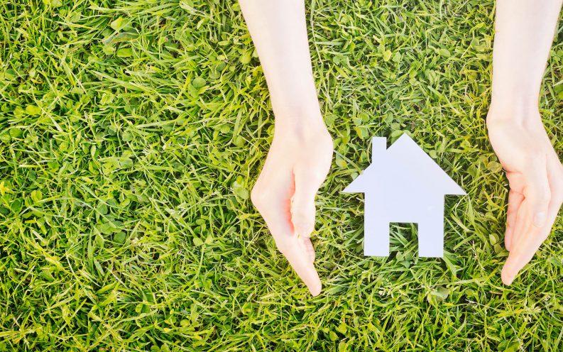 hands house grass