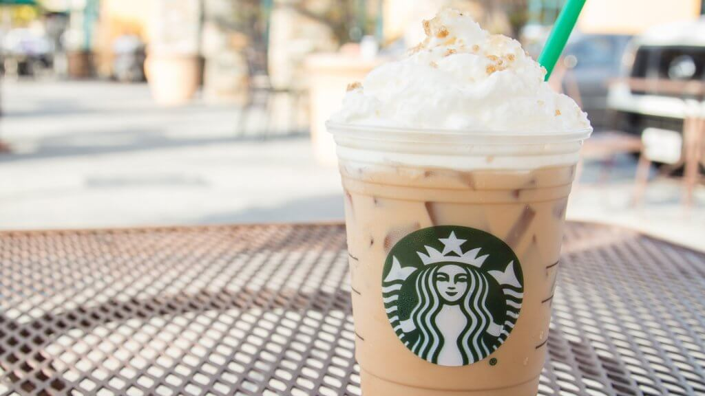 butterbeer iced latte at starbucks