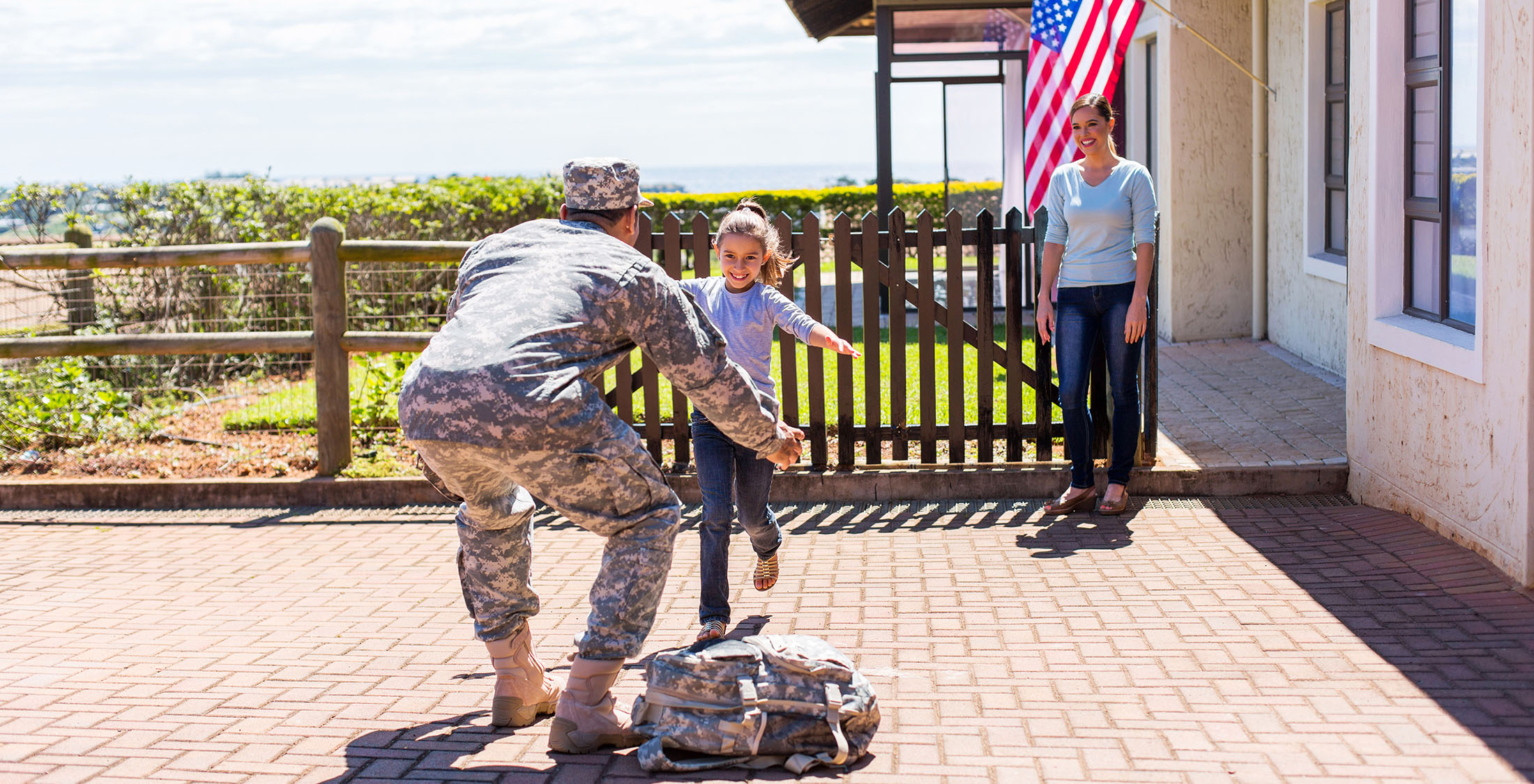 veteran returning home to family