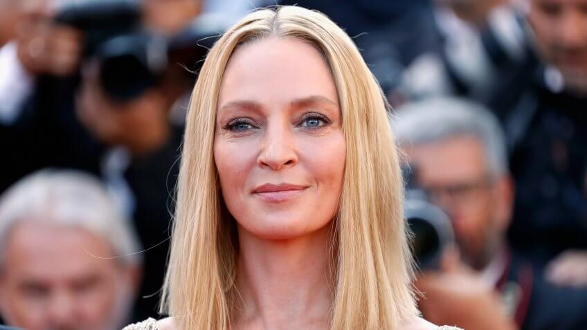 CANNES, FRANCE - MAY 28:  President of the Un Certain Regard jury Uma Thurman attends the Closing Ceremony during the 70th annual Cannes Film Festival at Palais des Festivals on May 28, 2017 in Cannes, France.