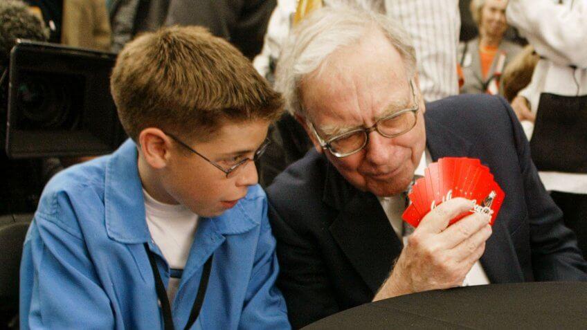 Warren Buffett playing cards