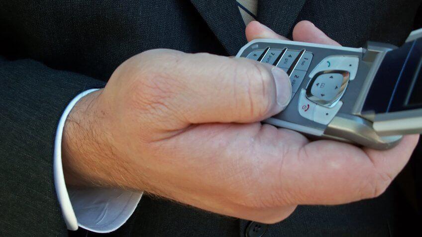 flip phone.