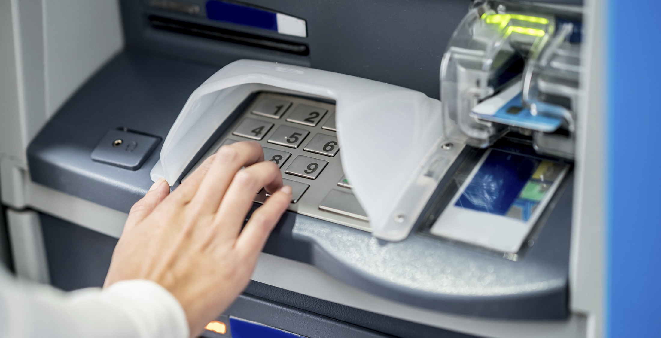 type in pin on atm