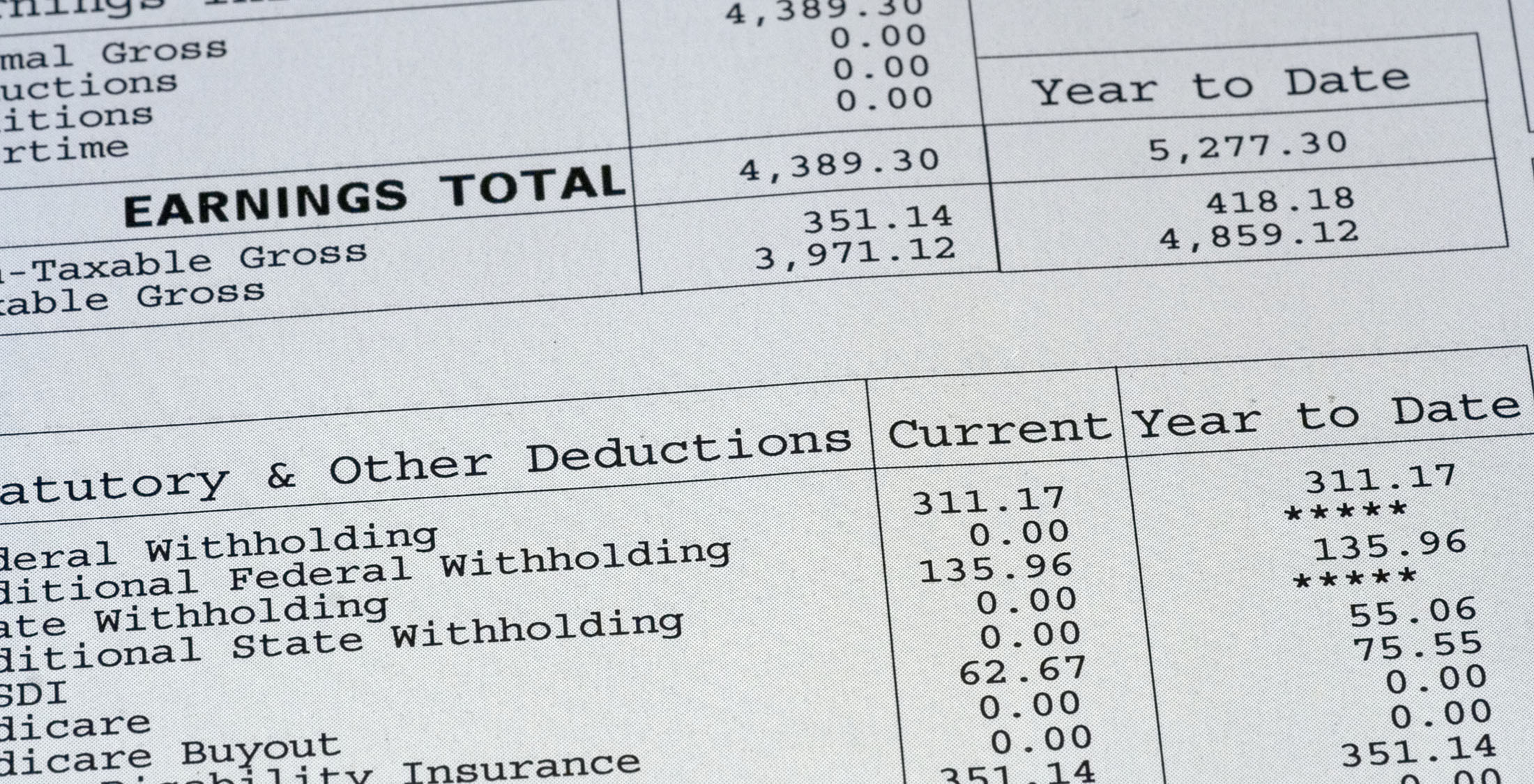 total earnings deductions form