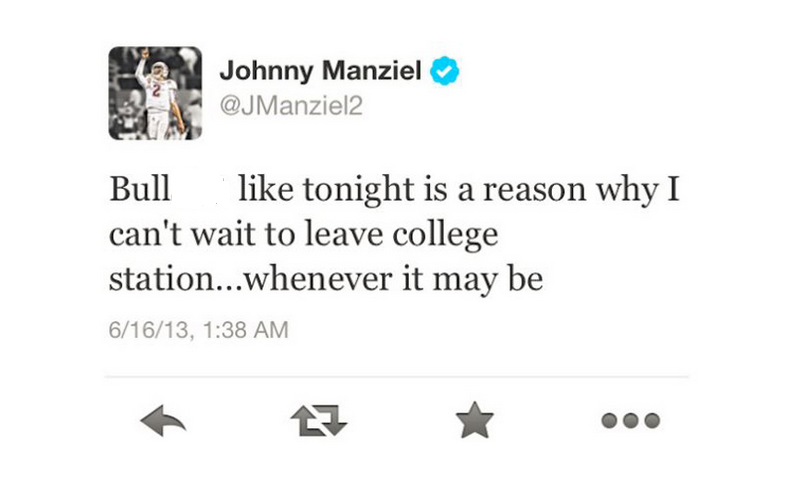 Johnny Manziel and 4 Other Football Stars Whose Tweets Could Have Cost Them Big