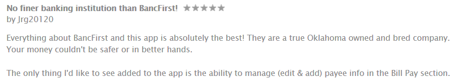 BancFirst Review