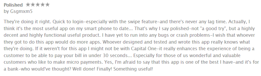 capital one mobile app review