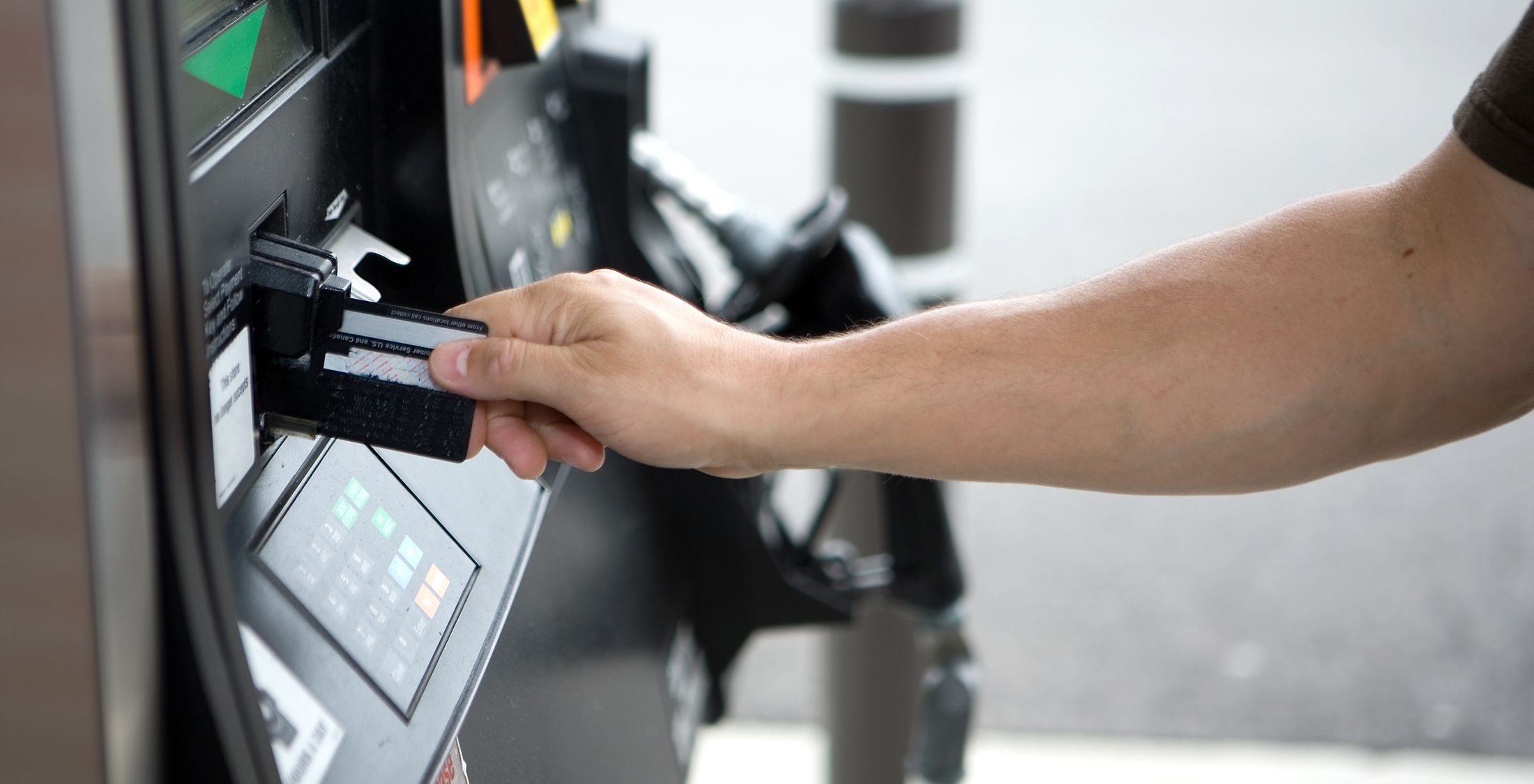 paying for gas credit card gas station