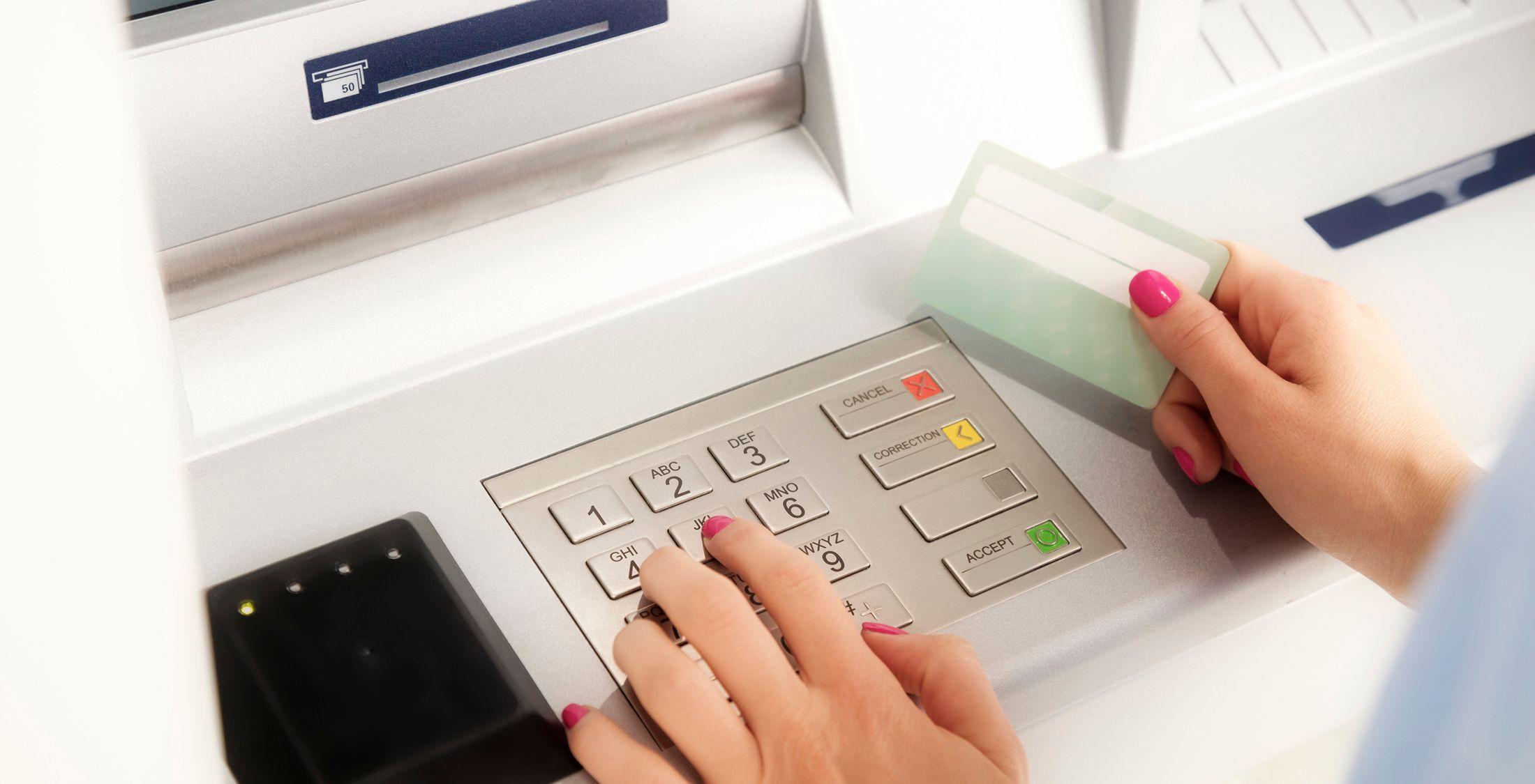 ATMs debit cards