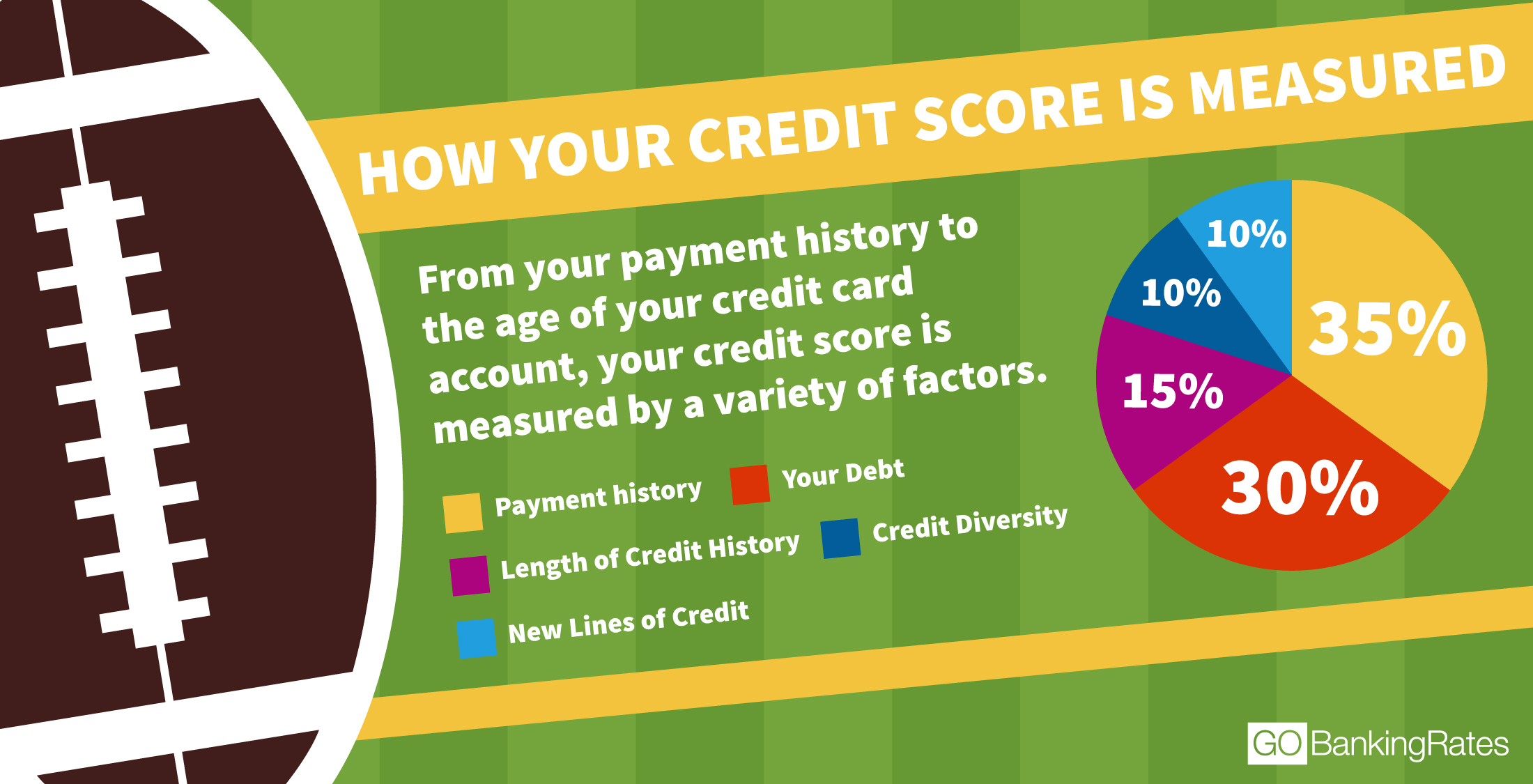 pie chart of credit score factors