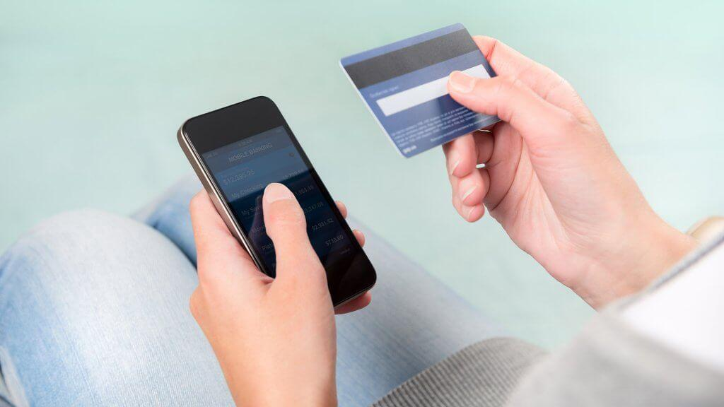 entering credit card information into phone