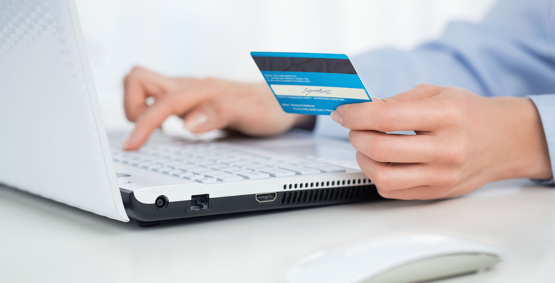 enter credit card information online