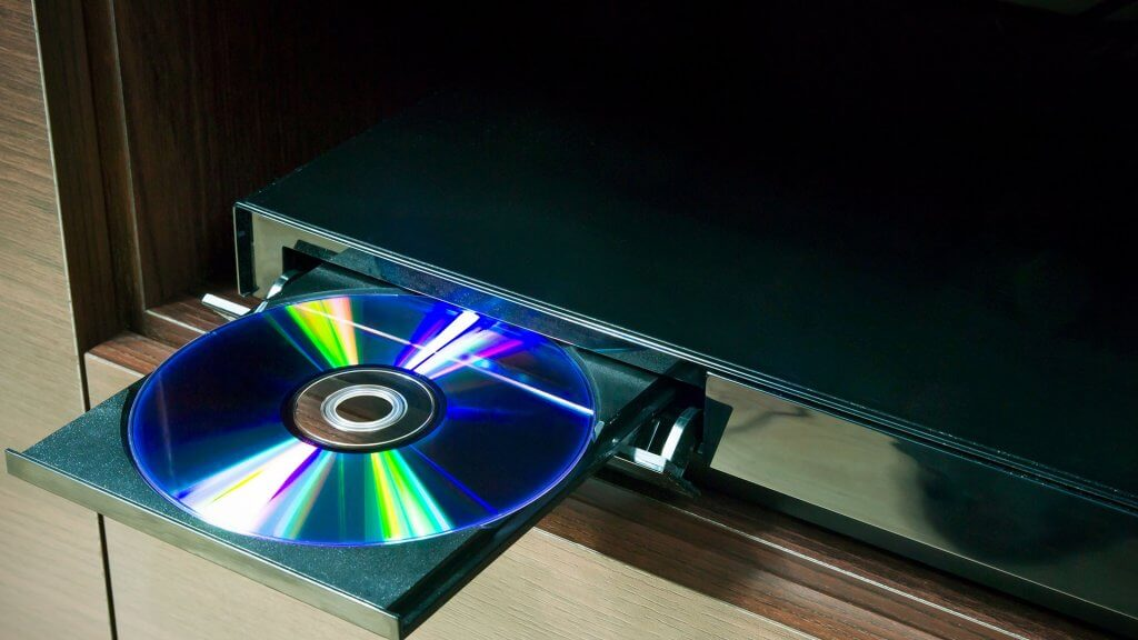 DVD in a DVD player