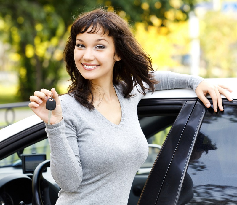 girl with car keys