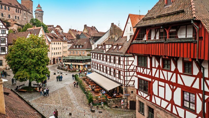 Cityscape of Nuremberg from city wall, Germany, How Much to Tip When Traveling to These 25 Countries