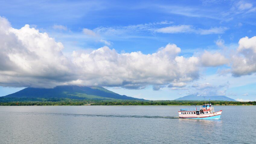 Ometepe is an island formed by two volcanoes rising from Lake Nicaragua in the Republic of Nicaragua.