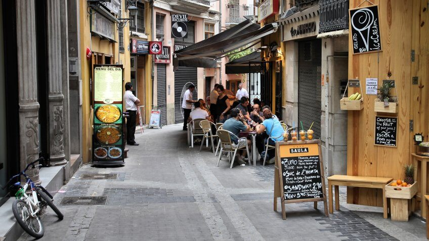 2010 in Valencia, How Much to Tip When Traveling to These 25 Countries, SPAIN - OCTOBER 10: Tourists on October 10, Spain is 2nd most visited country in the world. Valencia is the , Spain. As of 2009, VALENCIA