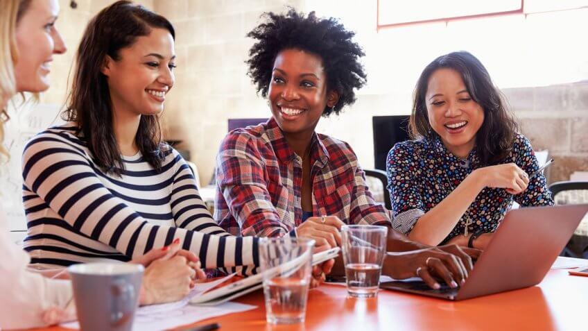 Female designers having a meeting