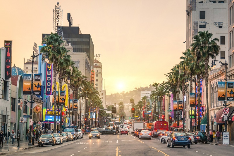 los angeles hollywood boulevard