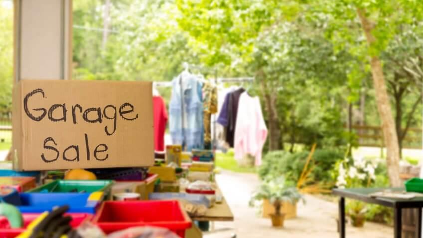 Shop at Garage and Yard Sales