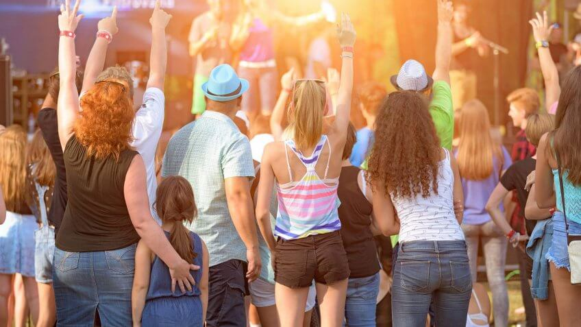 young crowd at a music festival