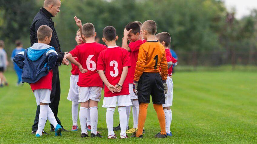 a children's soccer team