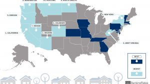 10 Worst States to Get a Mortgage Loan