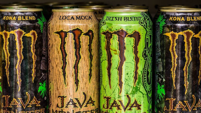 Indianapolis, US - August 10, 2016: Monster Beverage Display.