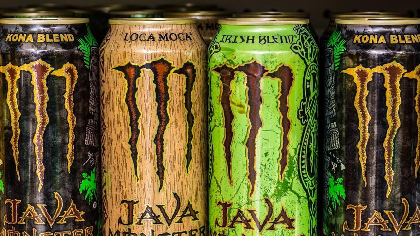 Indianapolis, US - August 10, 2016: Monster Beverage Display.
