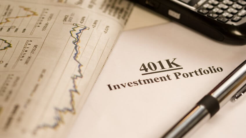 Macro of a 401k investment portfolioCheck out my other business and financial concept images.