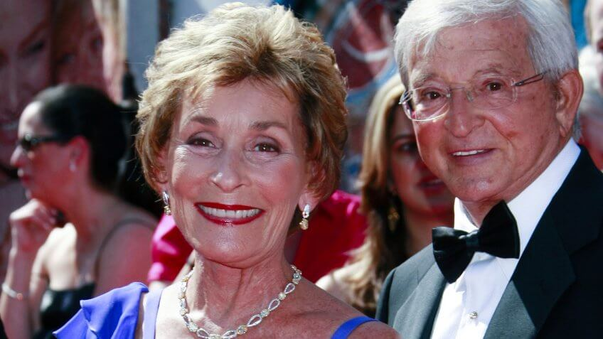 Judge Judy and Jerry Sheindlin at a red carpet