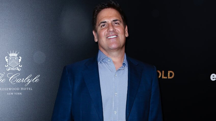 Mark Cuban on the red carpet