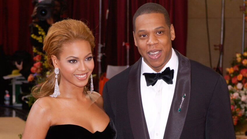 BEYONCE KNOWLES & JAY-Z at the 77th Annual Academy Awards at the Kodak Theatre, Hollywood, CA February 27, 2005; Los Angeles, CA.